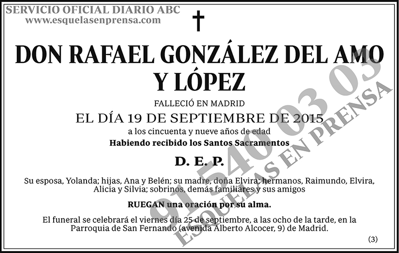 Rafael González del Amo y López